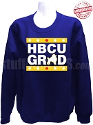 Sigma Gamma Rho HBCU Grad Crewneck Sweatshirt, Royal Blue - EMBROIDERED with Lifetime Guarantee