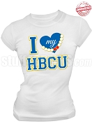 Sigma Gamma Rho I Heart My HBCU T-Shirt, White - EMBROIDERED with Lifetime Guarantee