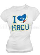 Sigma Gamma Rho I Heart My HBCU Screen Printed T-Shirt, White