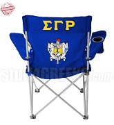 Sigma Gamma Rho Crest Lawn Chair with Greek Letters, Royal Blue - EMBROIDERED WITH LIFETIME GUARANTEE