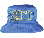 Sigma Gamma Rho Greek Letters Floppy Bucket Hat with Founding Year, Royal Blue (NS)