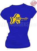 Omega Sigma Chapter of Sigma Gamma Rho T-Shirt with Poodle, Royal Blue - EMBROIDERED with Lifetime Guarantee