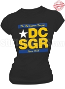 Phi Sigma Chapter of Sigma Gamma Rho Run DMC T-Shirt, Black - EMBROIDERED with Lifetime Guarantee