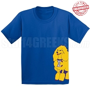 SGRho Mascot T-Shirt, Royal - EMBROIDERED with Lifetime Guarantee