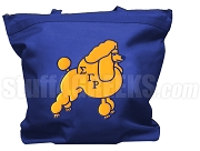 Sigma Gamma Rho Tote Bag with Poodle, Royal Blue (NS)