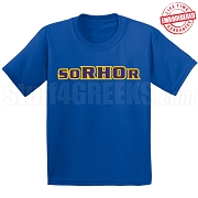 soRHOr T-Shirt, Royal - EMBROIDERED with Lifetime Guarantee