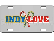 Sigma Gamma Rho/Kappa Alpha Psi Indy Love Dye-Sublimated License Plate on Silver Background