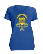 Sigma Gamma Rho School Daze Screen Printed T-Shirt, Royal Blue