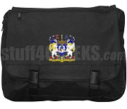 Sigma Iota Alpha Laptop Bag with Crest, Black