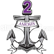 Sigma Lambda Beta Patch with Anchor & Number