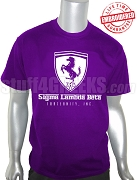 Sigma Lambda Beta Ferrari T-Shirt, Purple - EMBROIDERED with Lifetime Guarantee