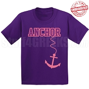 Anchor T-Shirt, Purple/Pink - EMBROIDERED with Lifetime Guarantee