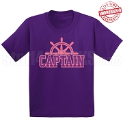Captain T-Shirt, Purple/Pink - EMBROIDERED with Lifetime Guarantee