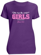 Sigma Gamma Lambda Girls Run The World Screen Printed T-Shirt, Purple