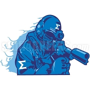 Phi Beta Sigma Soldier Patch
