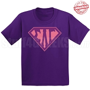 Sigma Lambda Gamma T-Shirt with Letters Inside Superman Shield, Purple - EMBROIDERED with Lifetime Guarantee