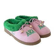 Alpha Kappa Alpha Greek Letter Slippers, Pink