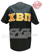 Chi Beta Pi Greek Letter T-Shirt, Black - EMBROIDERED with Lifetime Guarantee