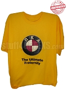 Pi Kappa Alpha The Ultimate Fraternity T-Shirt, Old Gold - EMBROIDERED with Lifetime Guarantee