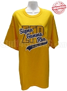 Sigma Gamma Rho Sorority Inc. T-Shirt, Gold - EMBROIDERED with Lifetime Guarantee
