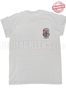 Sigma Lambda Beta T-Shirt with Crest, White - EMBROIDERED with Lifetime Guarantee