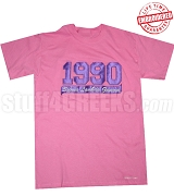 1990 SLG T-Shirt, Azalea Pink - EMBROIDERED with Lifetime Guarantee