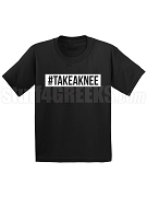 #TAKEAKNEE Take A Knee Screen Printed T-Shirt, Black