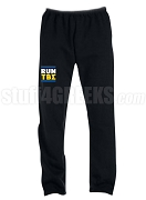 Tau Beta Sigma Run DMC Screen Printed Sweatpants, Black (AB)