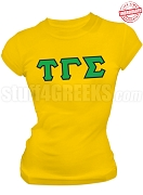 Tau Gamma Sigma Greek Letter T-Shirt, Gold - EMBROIDERED with Lifetime Guarantee