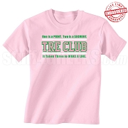 Pink/Kelly Tre Club (Gen1) T-Shirt, Pink - EMBROIDERED with Lifetime Guarantee