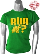 Are You A Turtle? Kelly Green T-Shirt with Gold Letters - EMBROIDERED with Lifetime Guarantee