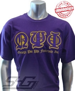 Omega Psi Phi Old English T-Shirt, Purple - EMBROIDERED with Lifetime Guarantee