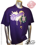 Omega Metallic Vintage T-Shirt, Purple - EMBROIDERED with Lifetime Guarantee