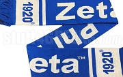 Zeta Phi Beta Scarf with Organization Name and Founding Year, Royal