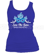 Zeta Phi Beta 2018 Boule Big Mask Screen Printed Tank Top, Royal