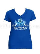 Zeta Phi Beta 2018 Boule Big Mask Screen Printed V-Neck T-Shirt, Royal