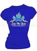 Zeta Phi Beta 2018 Big Mask Screen Printed T-Shirt, Royal