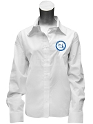Zeta Phi Beta Crest Button Down Shirt, White
