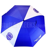 Zeta Phi Beta Auto Open Golf Umbrella with Shield and Dove, Royal Blue/White (NS)