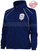 Zeta Phi Beta Large Crest Track Jacket, Royal/White (BAW)