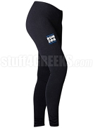 Zeta Phi Beta Run DMC Screen Printed Athletic Leggings, Black (BC)