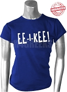 Zeta Phi Beta EE-I-KEE T-Shirt, Royal Blue - EMBROIDERED with Lifetime Guarantee