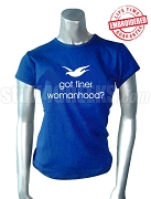 Zeta Phi Beta Got Finer T-Shirt, Royal Blue - EMBROIDERED with Lifetime Guarantee
