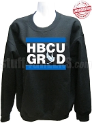 Zeta Phi Beta HBCU Grad Crewneck Sweatshirt, Black - EMBROIDERED with Lifetime Guarantee
