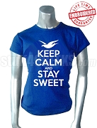 Zeta Phi Beta Keep Calm T-Shirt, Royal Blue - EMBROIDERED with Lifetime Guarantee