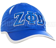 Zeta Phi Beta Greek Letter Featherlight Golf Cap, Royal Blue (SAV)