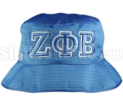 Zeta Phi Beta Greek Letters Floppy Bucket Hat with Founding Year, Royal Blue (NS)