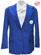 Zeta Phi Beta Logo Blazer Jacket, Royal Blue
