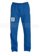 Zeta Phi Beta Run DMC Screen Printed Sweatpants, Royal Blue (AB)