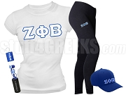 Zeta Phi Beta Sports Package - INCLUDES ATHLETIC PANTS, PERFORMANCE SHIRT, LIGHTWEIGHT HAT & WATER BOTTLE